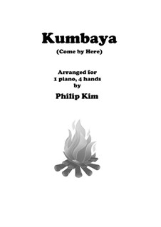 Kumbaya (Kum Ba Yah): For piano four hands by folklore