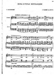 Five Romances, Op.33: Complete set by Sergei Taneyev