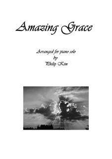 Amazing Grace, for Piano: For a single performer by folklore