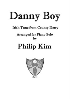 Danny Boy (Londonderry Air): For piano solo by folklore