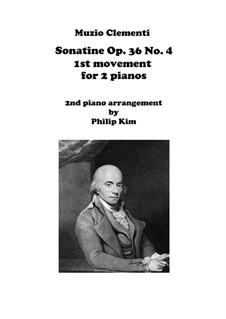 Sonatina No.4: Movement I, for two pianos by Muzio Clementi