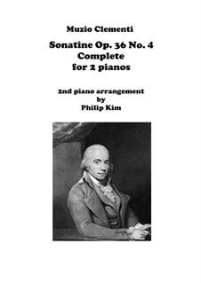 Sonatina No.4: For two pianos by Muzio Clementi