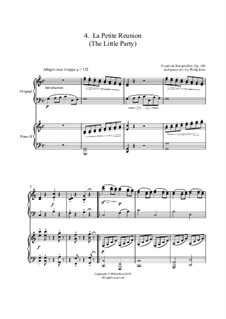 No.4 La Petite Réunion (Festive Gathering): For two pianos by Johann Friedrich Burgmüller