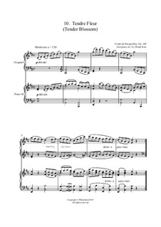 No.10 Tendre Fleur (A Dainty Flower): For two pianos by Johann Friedrich Burgmüller