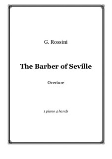 Overture: For piano four hands by Gioacchino Rossini