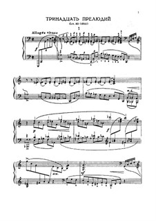 Thirteen Preludes, Op.32: Complete set by Sergei Rachmaninoff