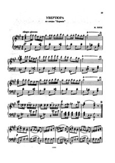 Selected Themes: Overture, for piano by Georges Bizet