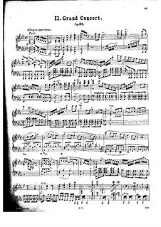 Concerto for Piano and Orchestra No.2, J.155 Op.32: Solo part by Carl Maria von Weber