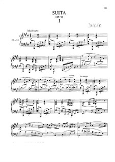 American Suite for Piano, B.184 Op.98: For a single performer by Antonín Dvořák