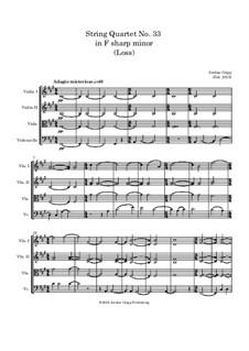 String Quartet No.33 in F sharp minor: String Quartet No.33 in F sharp minor by Jordan Grigg