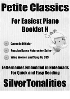 Petite Classics for Easiest Piano Booklet H: Petite Classics for Easiest Piano Booklet H by Johann Strauss (Sohn), Johann Pachelbel, Pyotr Tchaikovsky