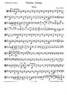 Valse triste for String Quartet: Viola part by Oskar Nedbal