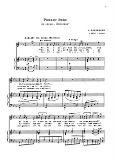 La Gioconda: Romanza di Enzo by Amilcare Ponchielli