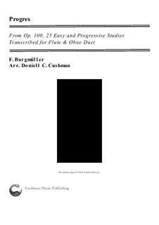 No.6 Progrès (Progress): For flute and oboe by Johann Friedrich Burgmüller