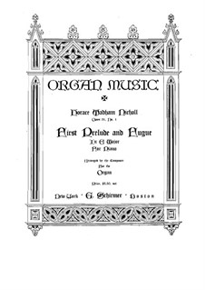 Preludes and Fugues. Prelude and Fugue in E Major, Op.31 No.1: For organ by Horace Wadham Nicholl