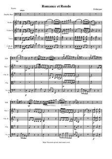 Romance and Rondo for Doublebass and Orchestra: Score and parts by Franz Keyper