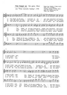 Nun fanget an: Für Chor by Hans Leo Hassler
