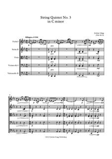 String Quintet No.3 in C minor: String Quintet No.3 in C minor by Jordan Grigg