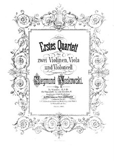 String Quartet No.1 in D Minor, Op.9: Violin I part by Zygmunt Noskowski