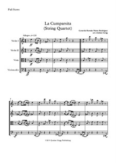 La Cumparsita: For string quartet by Gerardo Hernan Matos Rodriguez
