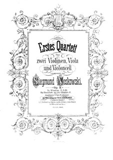 String Quartet No.1 in D Minor, Op.9: Cello part by Zygmunt Noskowski