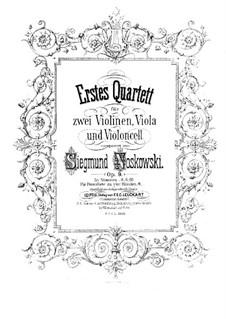 String Quartet No.1 in D Minor, Op.9: Violin II part by Zygmunt Noskowski