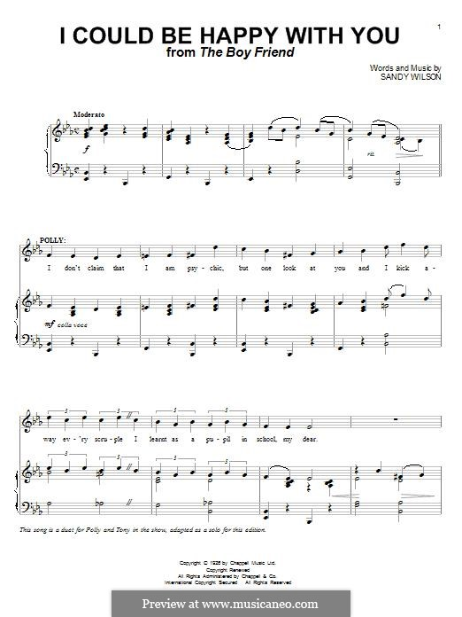 I Could Be Happy with You: For voice and piano by Sandy Wilson