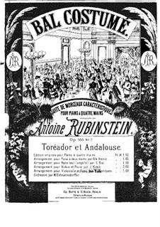 Bal costumé, Op.103: No.7 Toréador et Espagnole by Anton Rubinstein