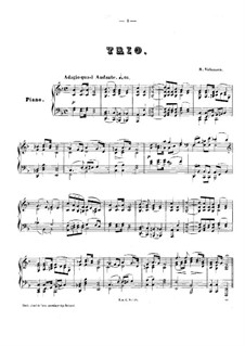 Piano Trio No.1 in F Major, Op.3: Piano part by Robert Volkmann