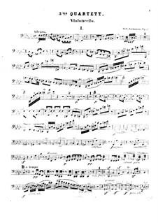String Quartet No.5 in F Minor, Op.37: Cello part by Robert Volkmann