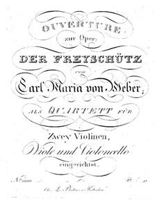 Complete Opera: For string quartet – viola part by Carl Maria von Weber