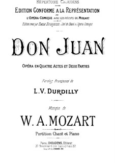 Complete Opera: Redaction by Durdilly by Wolfgang Amadeus Mozart
