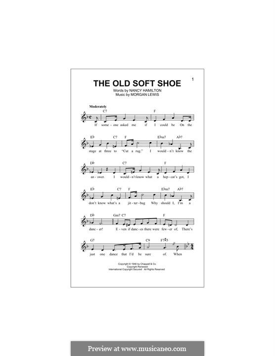 The Old Soft Shoe: Melody line by Morgan Lewis