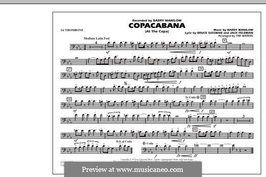 Copacabana (At the Copa): 1st trombone part by Barry Manilow
