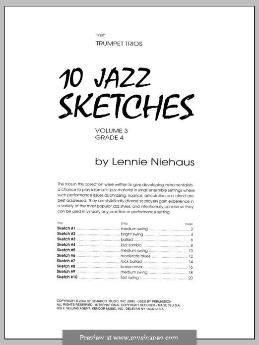 10 Jazz Sketches: Volume 3 by Lennie Niehaus