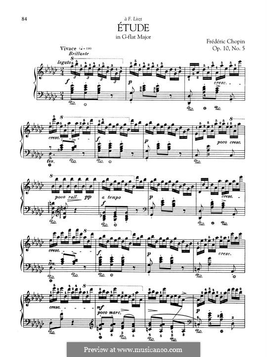 No.5 in G Flat Major: For piano by Frédéric Chopin
