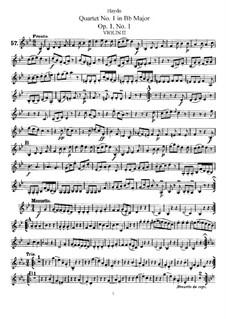 String Quartet No.1 in B Flat Major, Hob.III/1 Op.1 No.1: Violin II part by Joseph Haydn