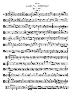 String Quartet No.1 in B Flat Major, Hob.III/1 Op.1 No.1: Viola part by Joseph Haydn