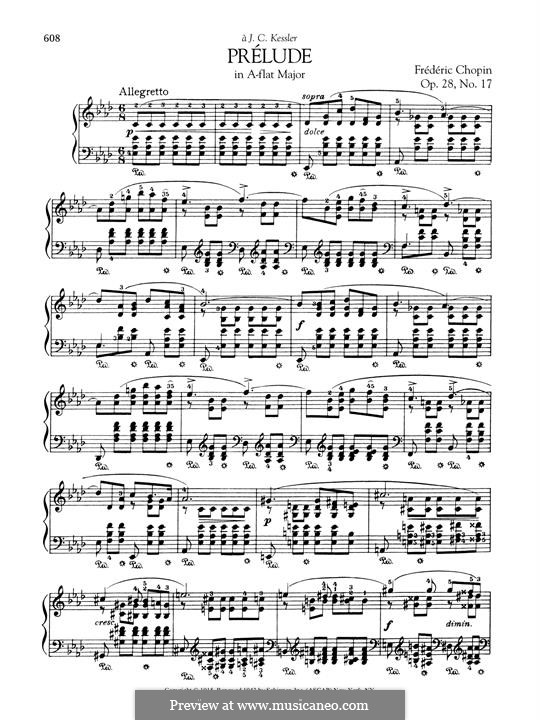 No.17 in A Flat Major: For piano by Frédéric Chopin