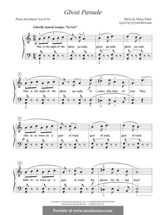 Ghost Parade: For easy piano by Nancy Faber
