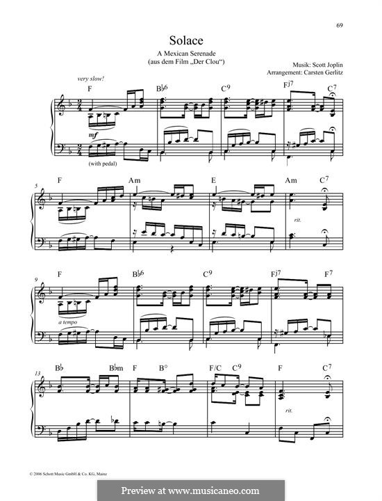 Solace: For piano by Scott Joplin