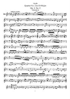 String Quartet No.2 in E Flat Major, Hob.III/2 Op.1 No.2: Violin II part by Joseph Haydn