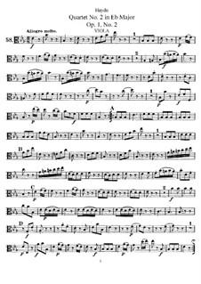 String Quartet No.2 in E Flat Major, Hob.III/2 Op.1 No.2: Viola part by Joseph Haydn