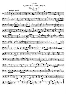 String Quartet No.2 in E Flat Major, Hob.III/2 Op.1 No.2: Cello part by Joseph Haydn