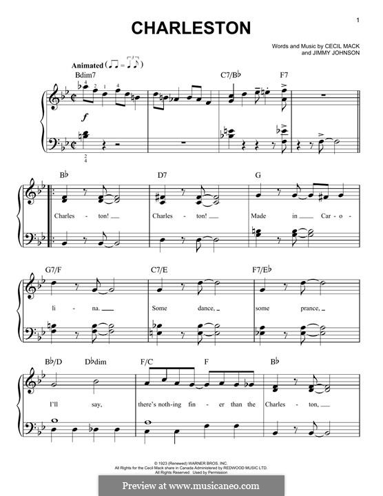 The Charleston: For piano by Cecil Mack