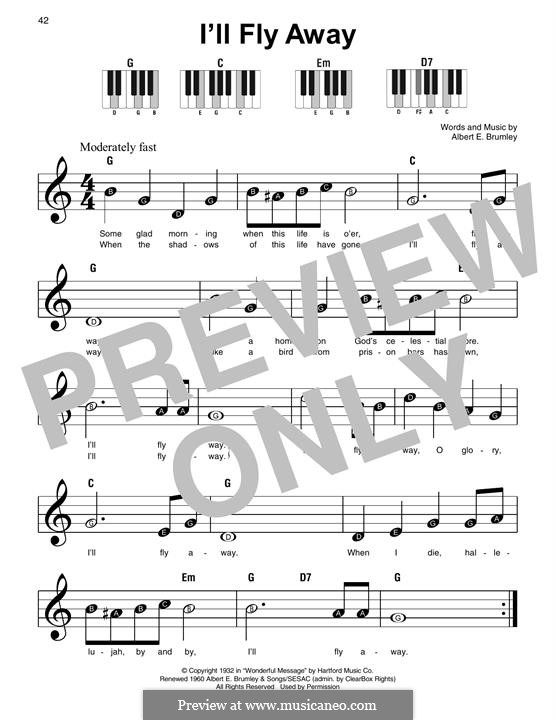 I'll Fly Away: For piano by Albert E. Brumley