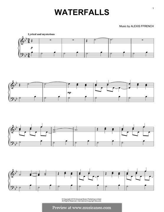 Waterfalls: For piano by Alexis Ffrench