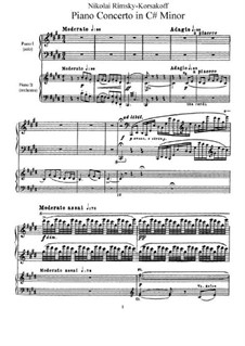 Concerto for Piano and Orchestra in C Sharp Minor, Op.30: Version for two pianos four hands by Nikolai Rimsky-Korsakov