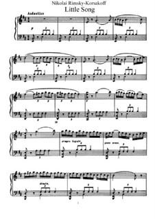 Little Song: For piano by Nikolai Rimsky-Korsakov