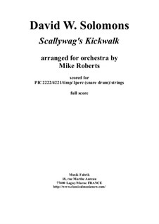 Scallywag's Kickwalk: For orchestra – score only by David W Solomons